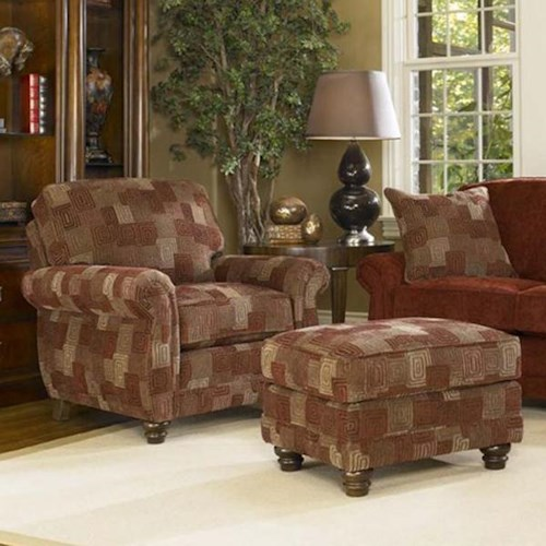 Smith Brothers 302 Chair Ottoman Wayside Furniture