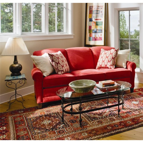 Smith Brothers 374 Stationary Sofa With Rolled Arms Story Lee Furniture Sofas Leoma