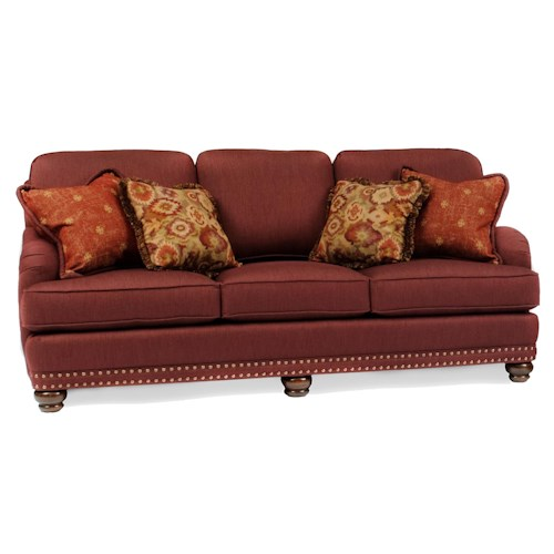 Pillows Traditional Sofa: Smith Brothers 386 Traditional Sofa With Throw Pillows