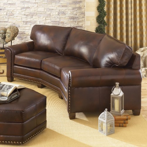 Smith Brothers 393 Traditional Conversation Sofa With Nailhead Trim Wayside Furniture