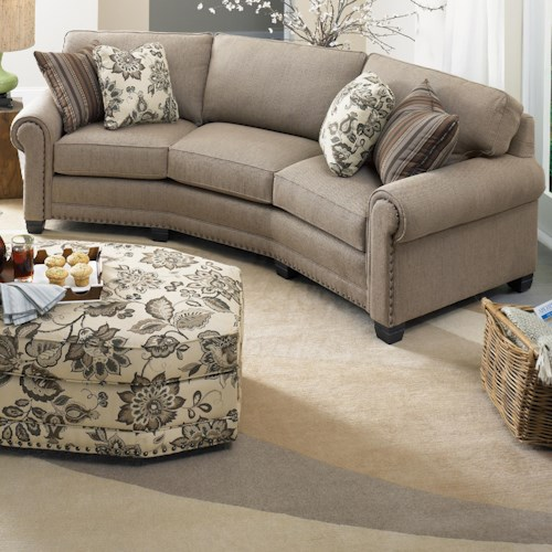 Smith Brothers 393 Traditional Conversation Sofa With Nailhead Trim Dunk Bright Furniture