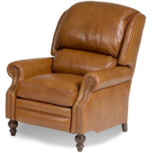 Smith Brothers 705l Motorized Reclining Chair With Rolled Arms Saugerties Furniture Mart