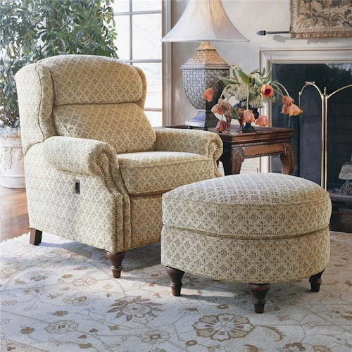 Smith Brothers 932 Tilt Chair And Ottoman Wayside