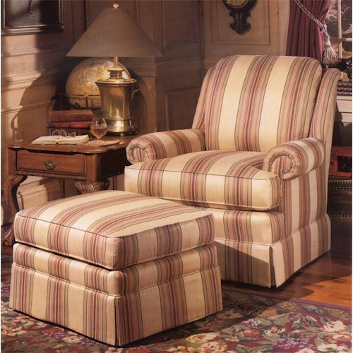 Smith Brothers 971 Upholstered Chair Ottoman Wayside