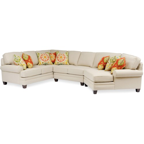Smith Brothers Build Your Own 5000 Series Large Sectional With Rolled Arms Wayside Furniture