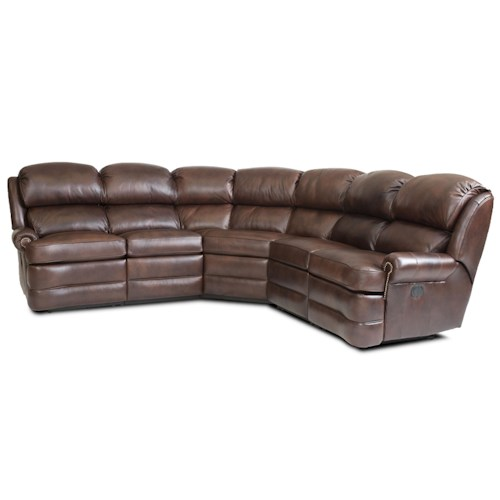 Smith brothers smith brothers transitional 5 piece for 5 piece reclining sectional sofa