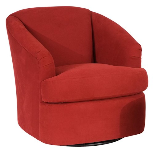 Smith brothers smith brothers contemporary barrel swivel for Modern swivel chair