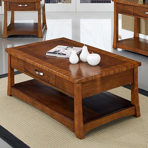 Somerton Milan Contemporary Cocktail Table With Casters