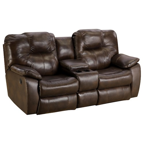 Southern motion avalon power reclining sofa with console for Furniture 0 down