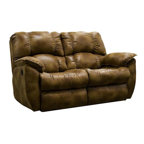 Southern Motion Weston Casual Rocking Reclining Loveseat With Pillow Arms Fashion Furniture