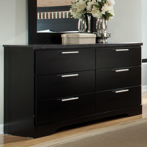 standard furniture atlanta rectangular 6 drawer dresser
