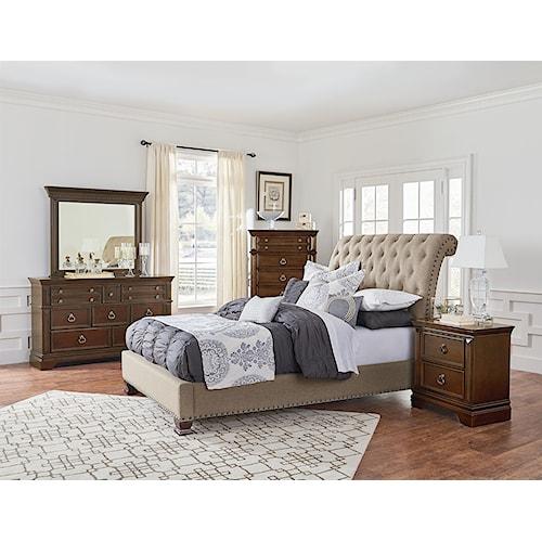 Home Bedroom Group Standard Furniture Charleston Upholstered Bedroom