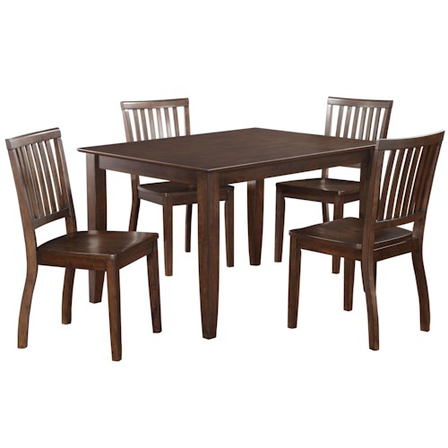 Classic Leg Table And Four Chairs Set Fairfax By Standard Furniture Wilcox Furniture