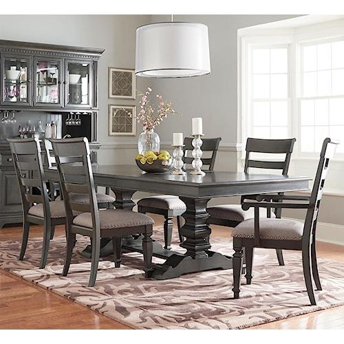 Standard Furniture Dining Room Sets: Standard Furniture Garrison Trestle Table Dining Set With