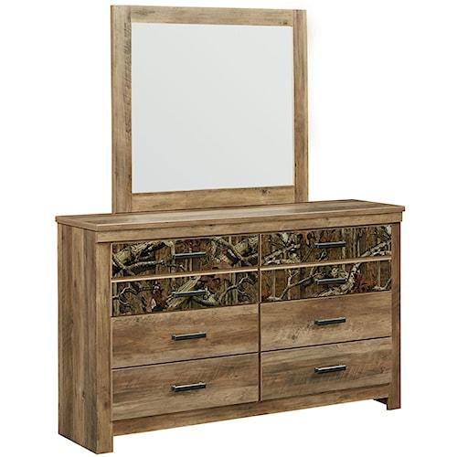 Standard Furniture Habitat 6 Drawer Dresser And Mirror Set