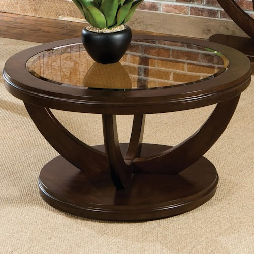 Standard Furniture La Jolla Round Cocktail Table With Glass Top Great American Home Store