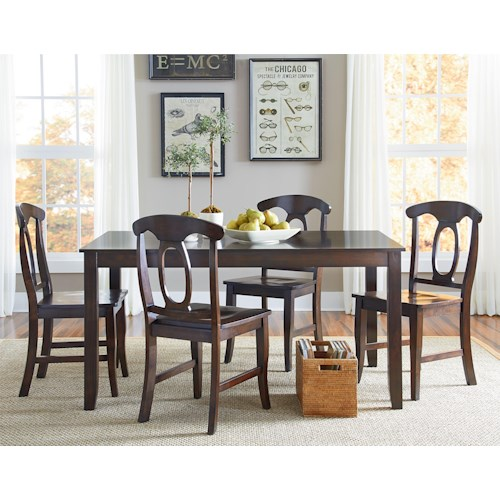 Standard furniture larkin piece dining table set with