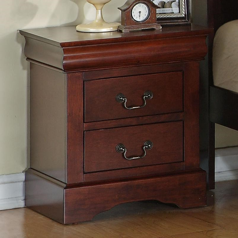 Zenith Lewiston 2 Drawer Nightstand EFO Furniture Outlet