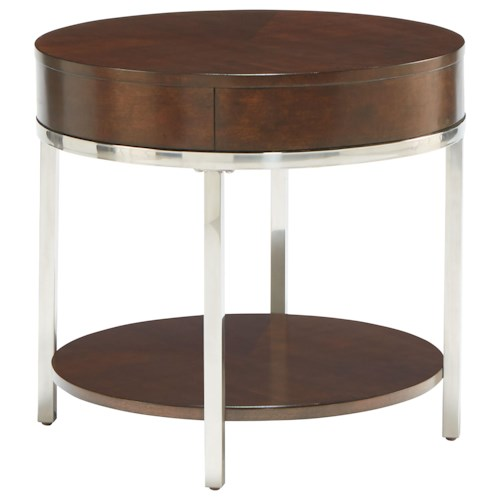 standard furniture mira contemporary round end table dunk bright furniture end tables. Black Bedroom Furniture Sets. Home Design Ideas