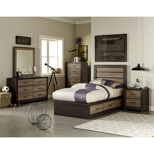 Standard Furniture Oakland Twin Bedroom Group With Captain 39 S Bed Dunk Bright Furniture