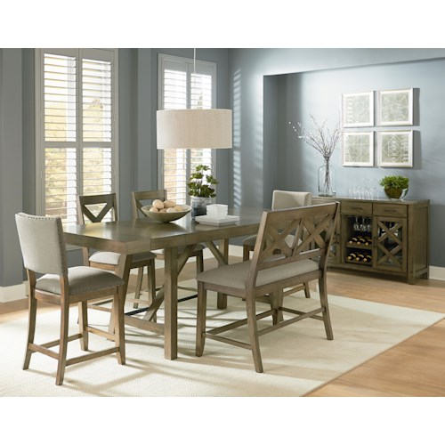Standard Furniture Omaha Grey 6 Piece Counter Height