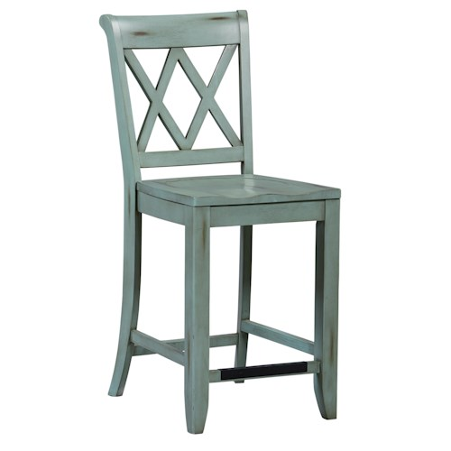 Standard furniture vintage vanilla counter height stool with x back wayside furniture bar stool - Standard counter height stool ...