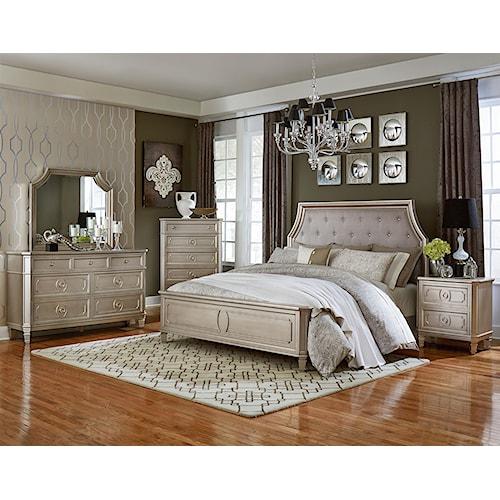 Standard Furniture Windsor Silver King Panel Bed Dresser