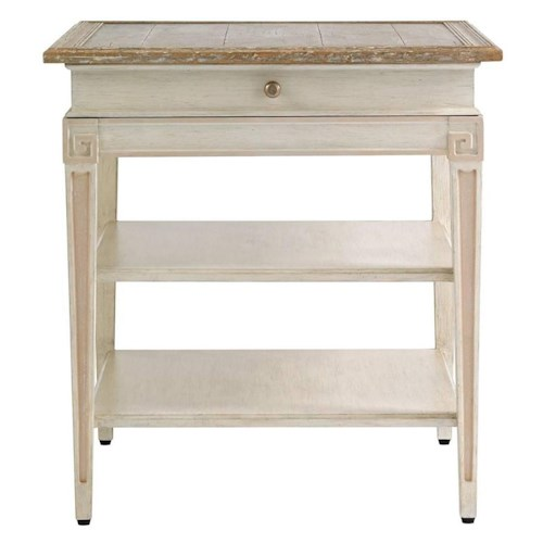 Stanley furniture preserve fairbanks end table with aged for Furniture fairbanks