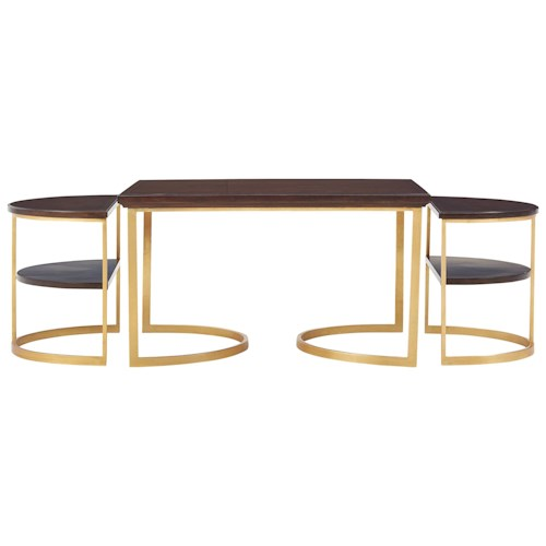 Stanley Furniture Virage Bunching Cocktail Table Set Belfort Furniture Cocktail Coffee Tables