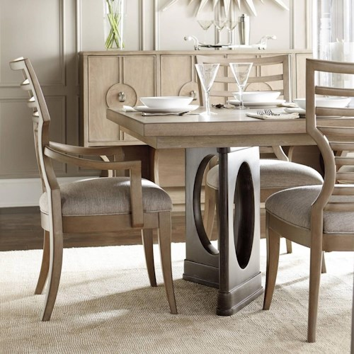 Stanley furniture virage 9 piece double pedestal dining for Stanley furniture dining room sets