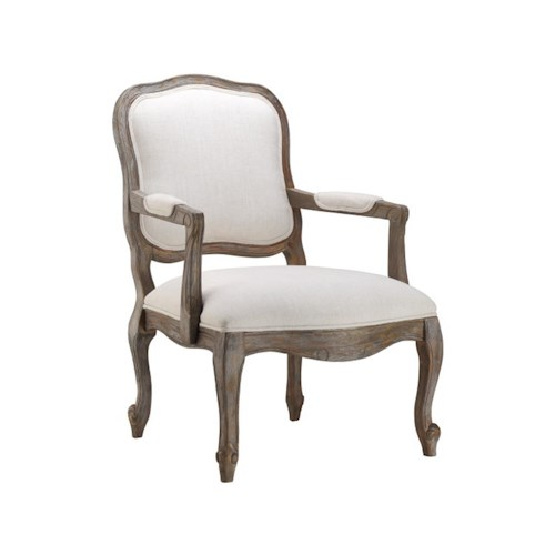 Stein World Accent Chairs Accent Chair W Caitlin Flax Fabric Dream Home Furniture Exposed