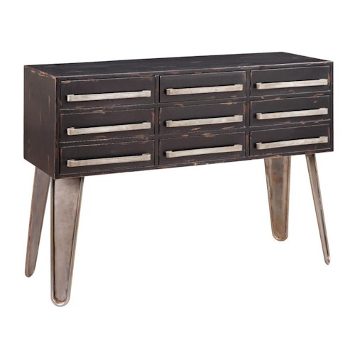 Stein World Accent Tables Black 9 Drawer Table J J Furniture Sofa Tables Consoles Mobile