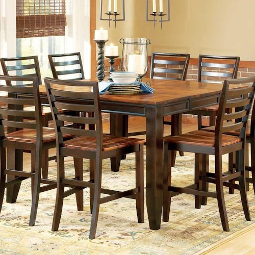 steve silver abaco 54 square solid acacia wood top counter height leg table wayside furniture. Black Bedroom Furniture Sets. Home Design Ideas