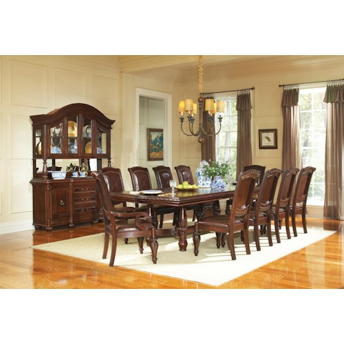 Steve silver antoinette 11 piece traditional dining table for 11 piece dining table