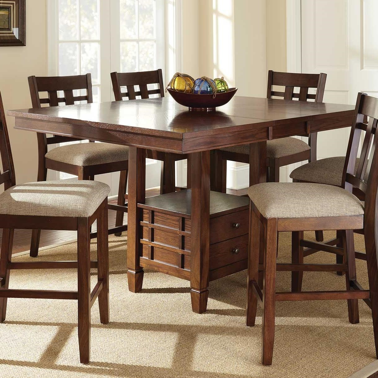 48 Square Dining Room Table: Steve Silver Bolton Storage Counter Table