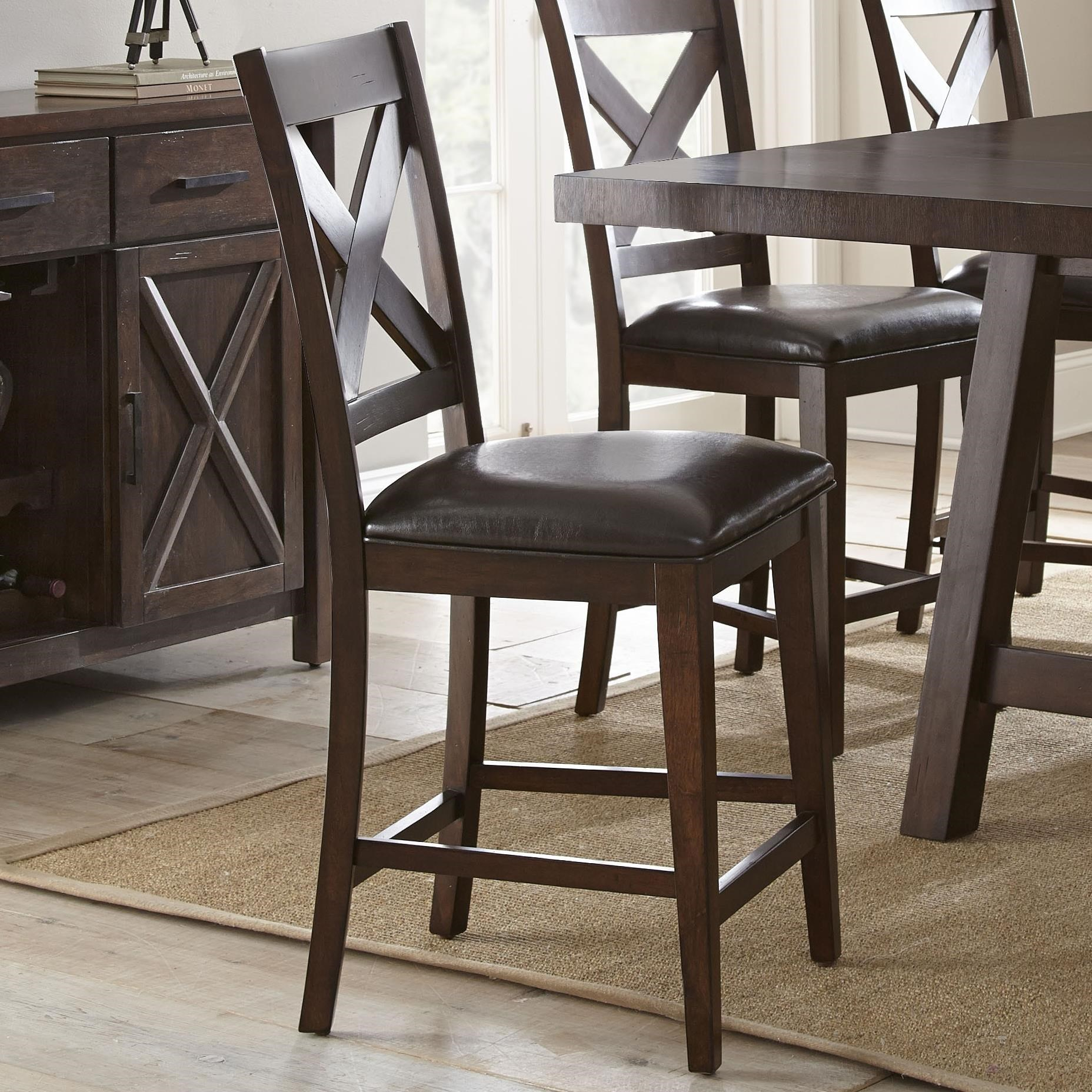 Steve Silver Clapton Counter Chair with X Back and  : claptonct700cc b0jpgscalebothampwidth500ampheight500ampfsharpen25ampdown from www.walkersfurniture.com size 500 x 500 jpeg 69kB