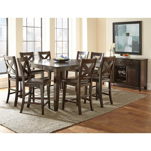 Casual Dining Room Group Steve Silver Crosspointe Casual Dining Room