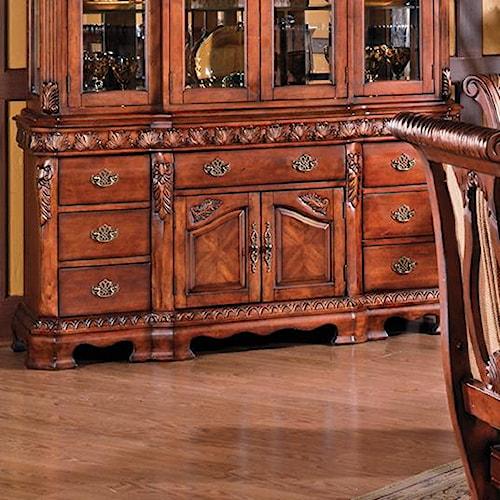 Steve Silver Harmony Traditional 2 Door 7 Drawer Buffet Walker 39 S Furniture Buffets Spokane
