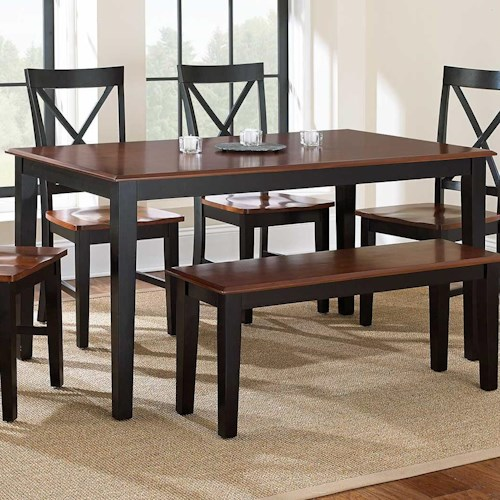 Vendor 3985 Kingston Casual Rectangular Dining Table Becker Furniture World Dining Room