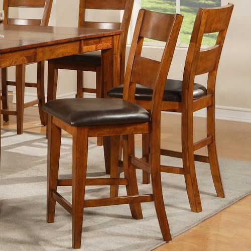 Vendor 3985 mango ladder back counter stool becker furniture world bar stool twin cities - Furniture wereld counter ...