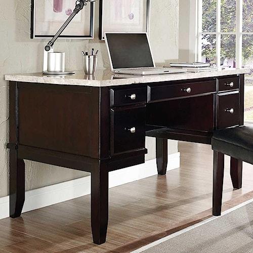 home home office furniture double pedestal desk steve silver monarch