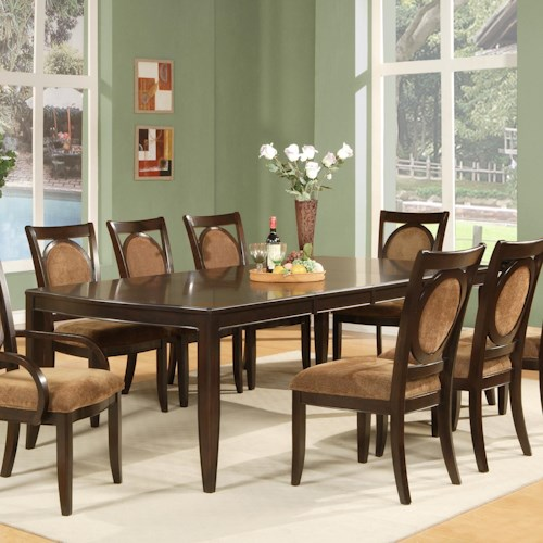 steve silver montblanc formal dining table wayside