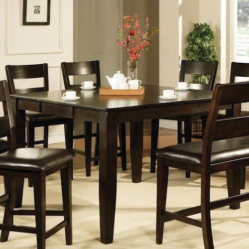 Vendor 3985 victoria victoria counter table becker for Dining room tables victoria