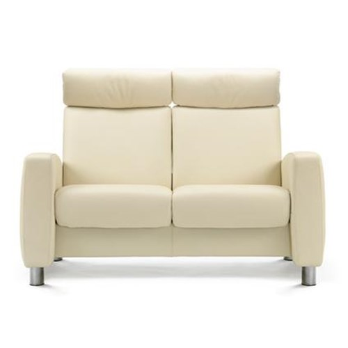 Stressless by ekornes arion 2 seater loveseat dunk bright furniture theater seating Loveseat theater seating