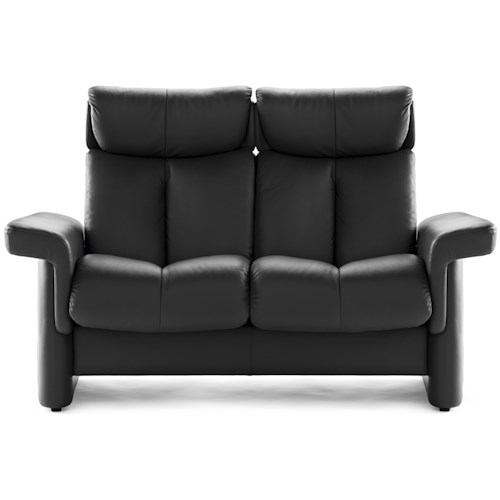 Stressless by ekornes legend 2 seater loveseat dunk bright furniture theater seating Loveseat theater seating