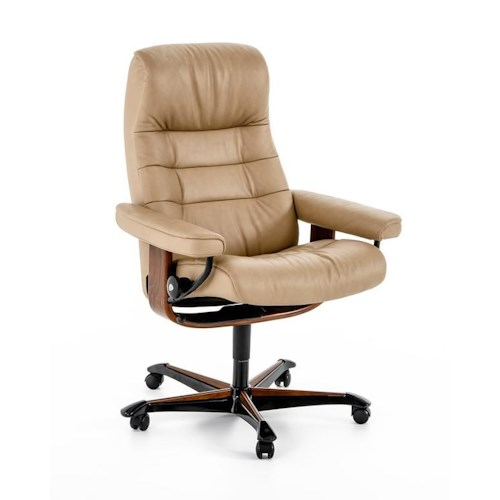 stressless by ekornes home office 1255096 sandy brown opal