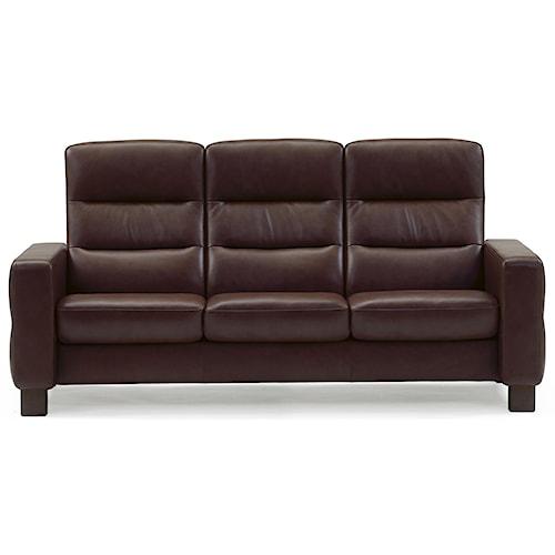 Stressless by ekornes wave 3 seater hudson 39 s furniture for Hudsons furniture