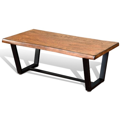 At Home Live Edge Coffee Table: Sunny Designs Cresent Hill Live Edge Coffee Table
