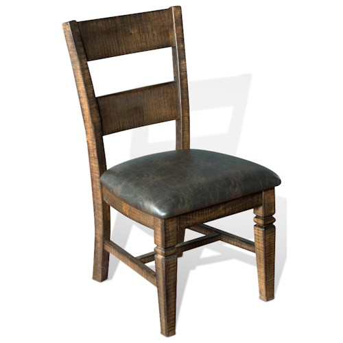 Sunny Designs Homestead Rustic Pine Ladderback Chair W Cushion Seat Fashio