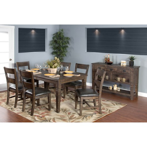 sunny designs homestead casual dining room group fashion furniture casual dining room groups. Black Bedroom Furniture Sets. Home Design Ideas